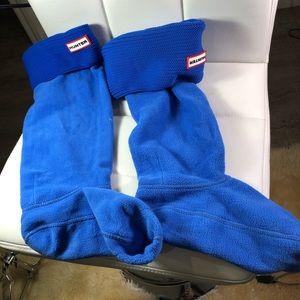 Hi yer boot socks tall blue